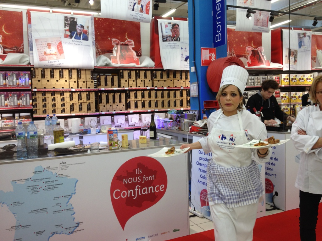 Carrefour planet for Stand de degustation