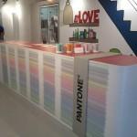 Tollens Pantone à L'Imprimerie support théâtralisé - Focus Shopper