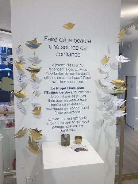 Projet etime de soi de la boutique éphémère Dove