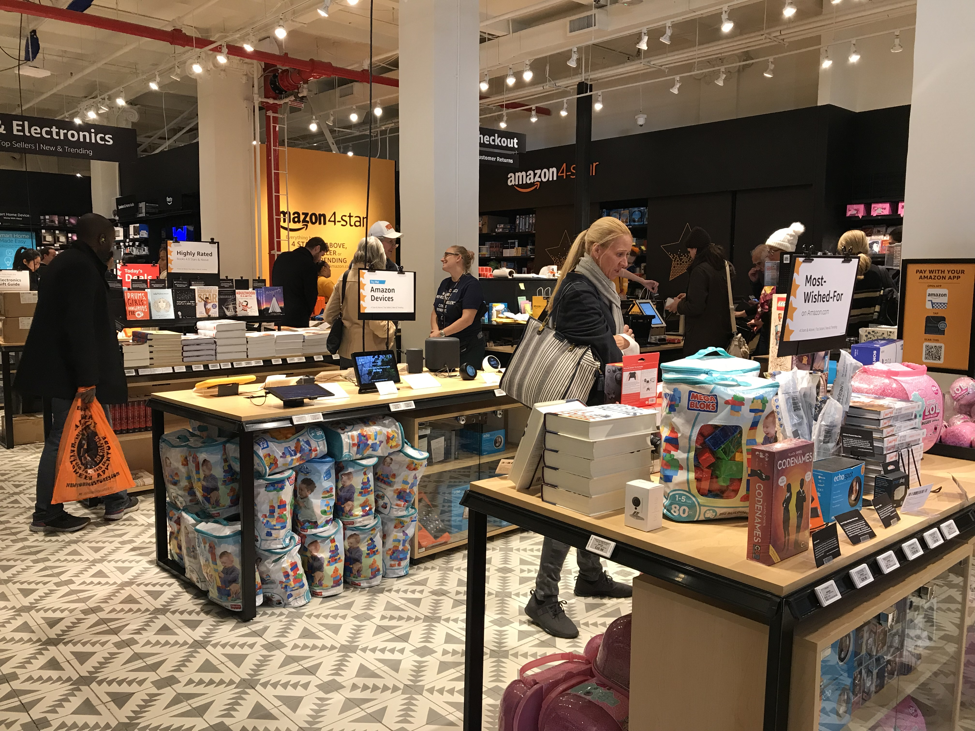 Retail tour New York – Amazon 4-Star & Books