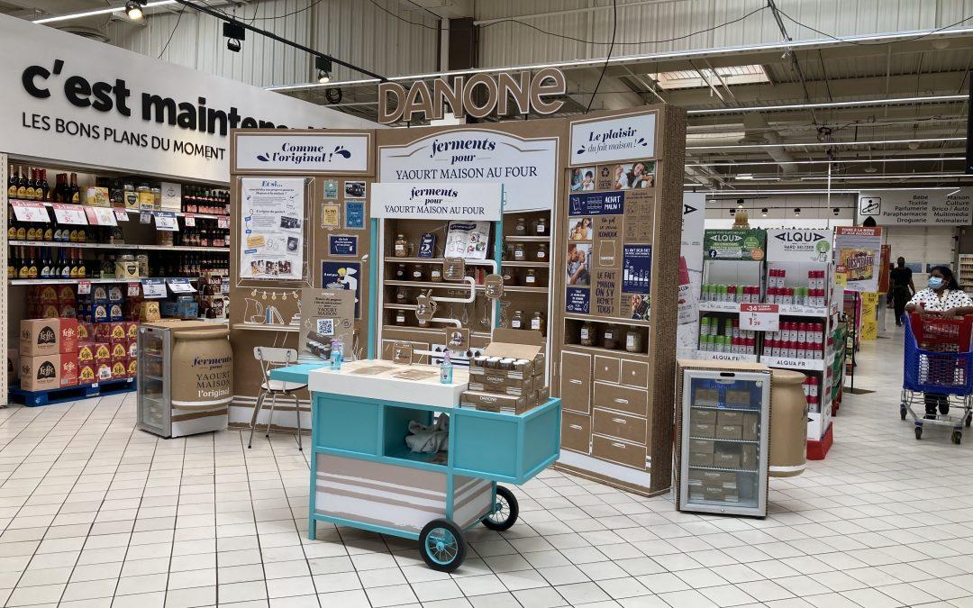Opération Danone ferments chez Carrefour
